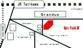 「立川美容室ヘアフィールド マップ」の画像検索結果
